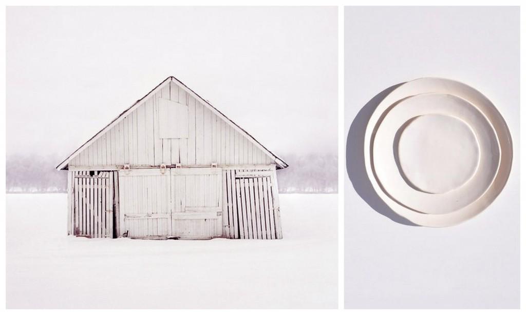 зимний дизайн white