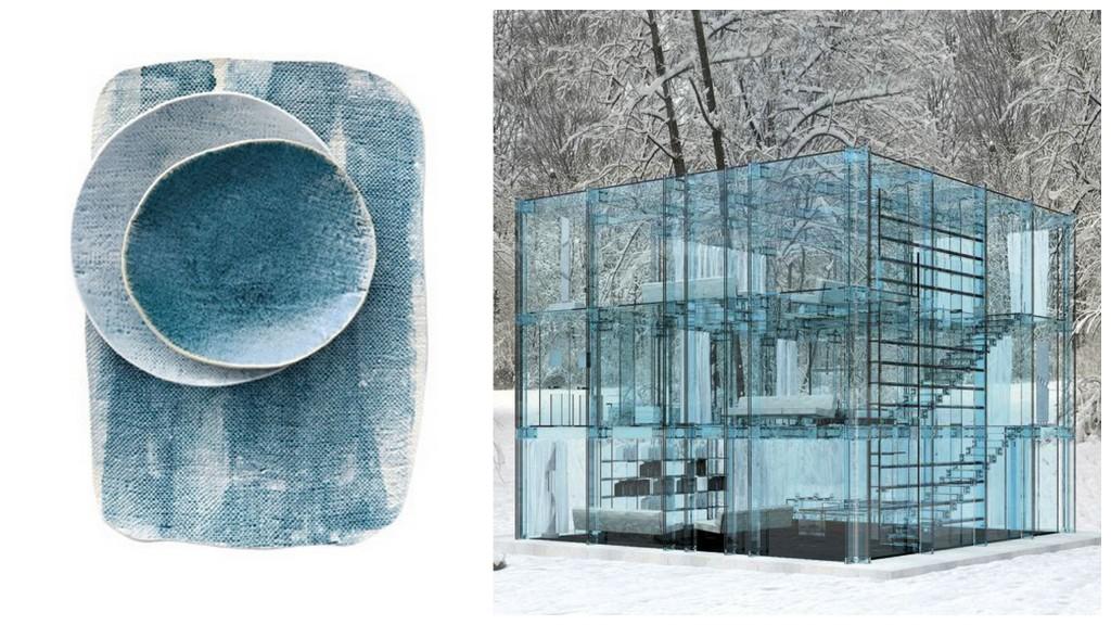 зимний дизайн blue