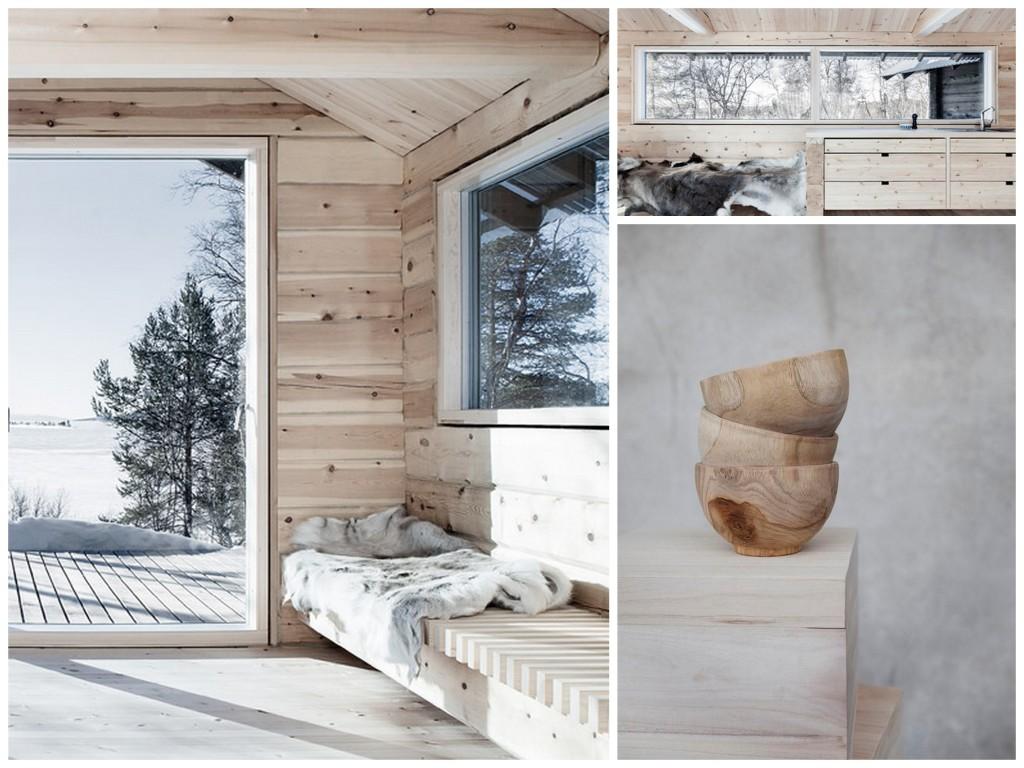 зимний дизайн wood