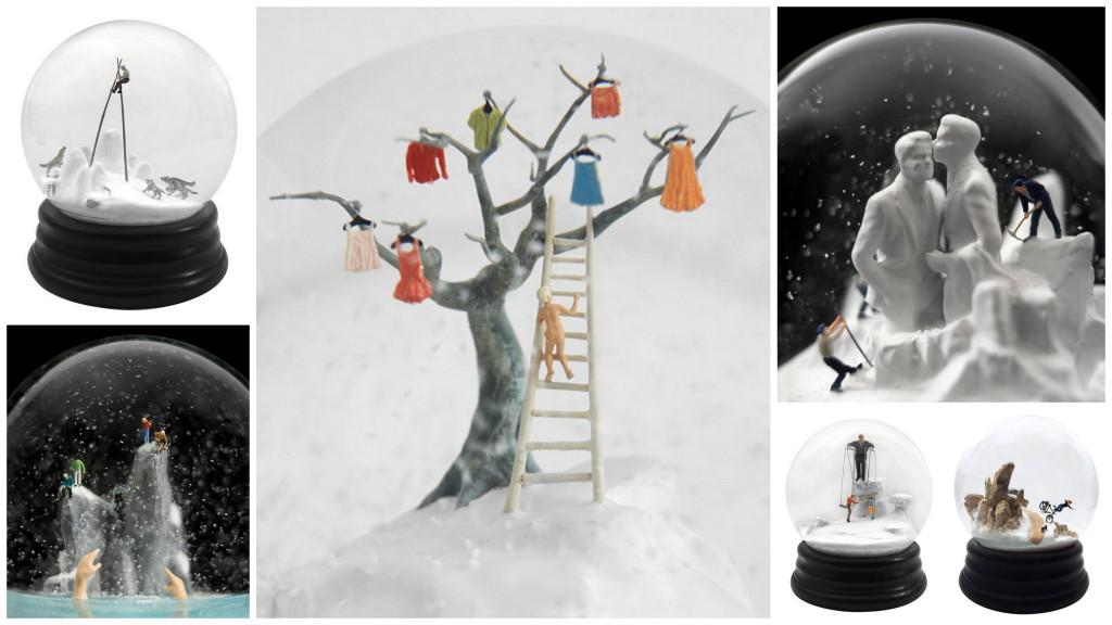 Подборка снежных шаров Snowglobes