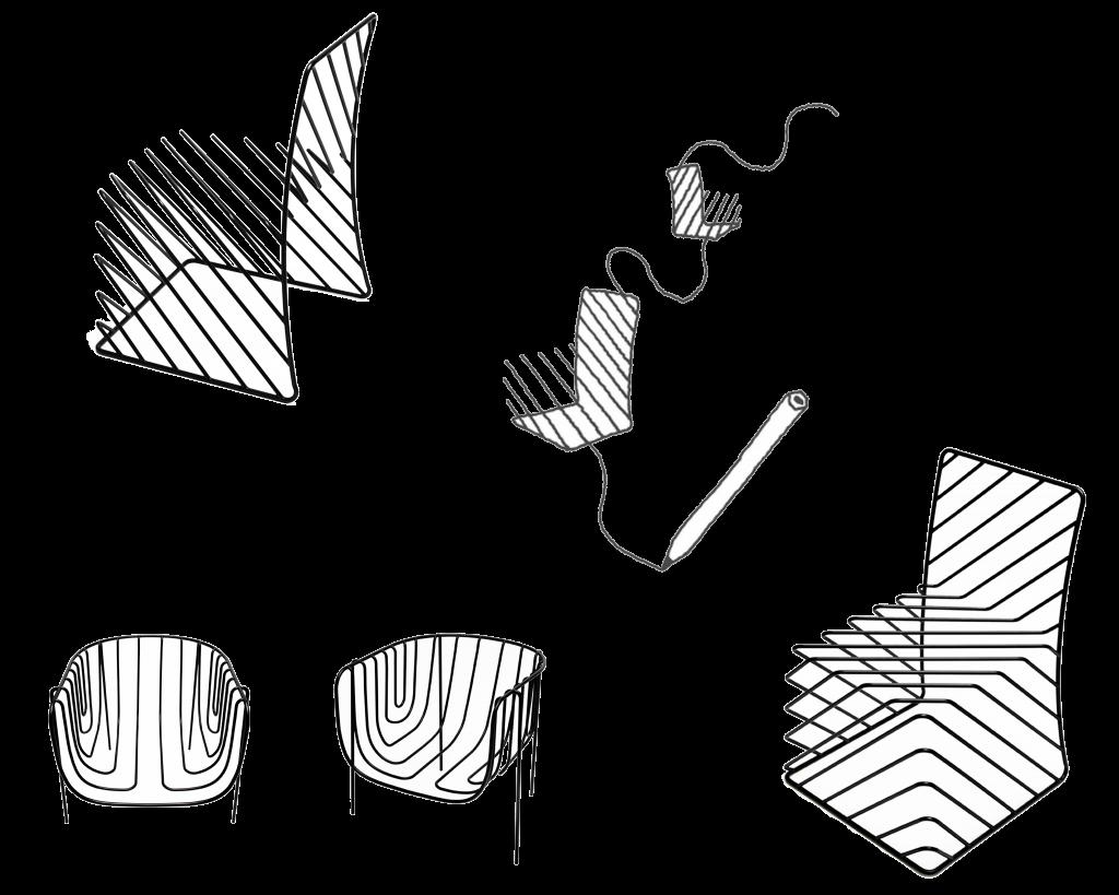 """Минималистичная """"нарисованная"""" мебель 3d-sketching-001"""