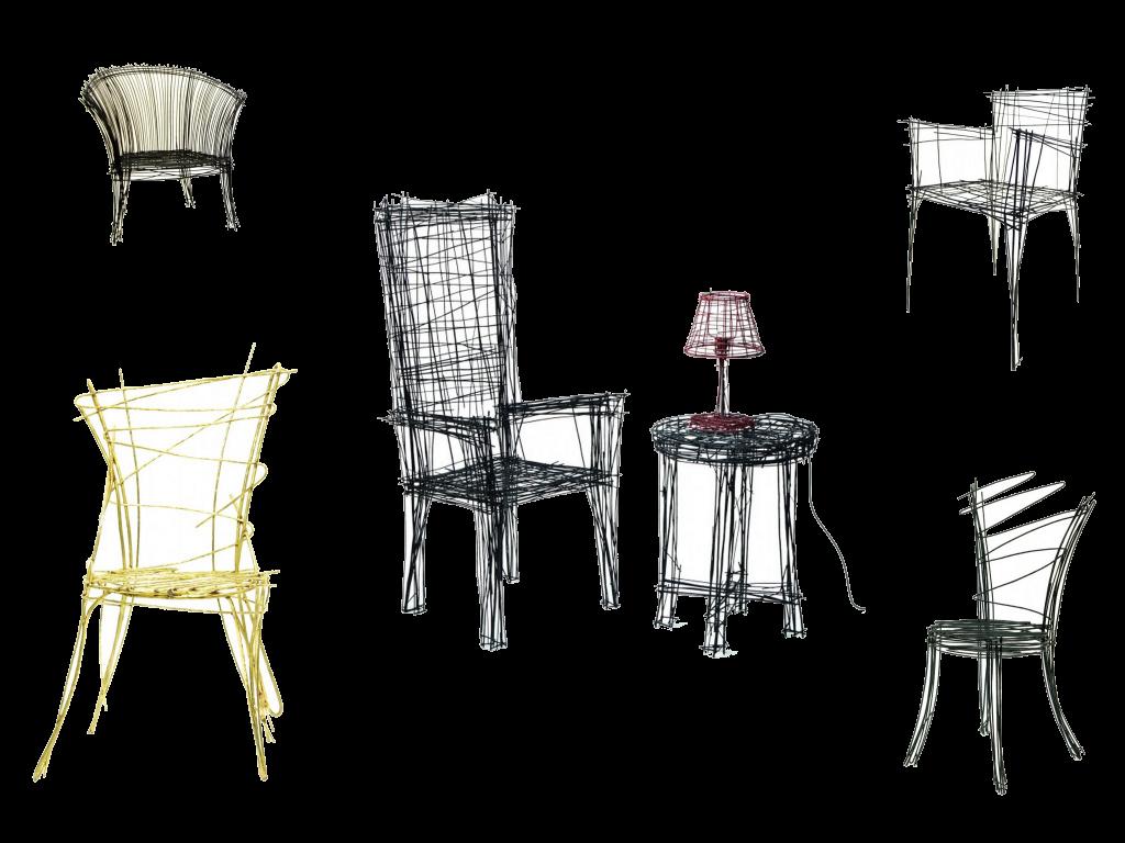 """Минималистичная """"нарисованная"""" мебель 3d-sketching"""