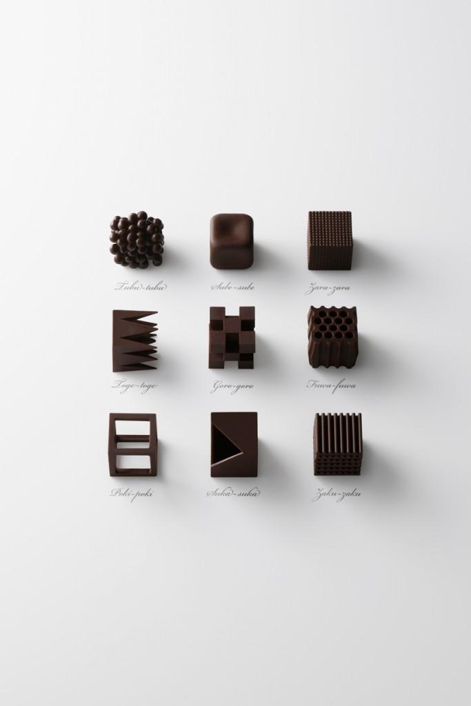 Необычные формы дизайнерского шоколада nendo