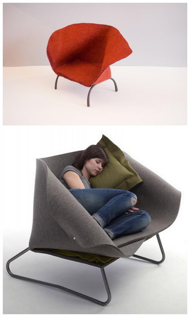 Разнообразная фетровая мебель