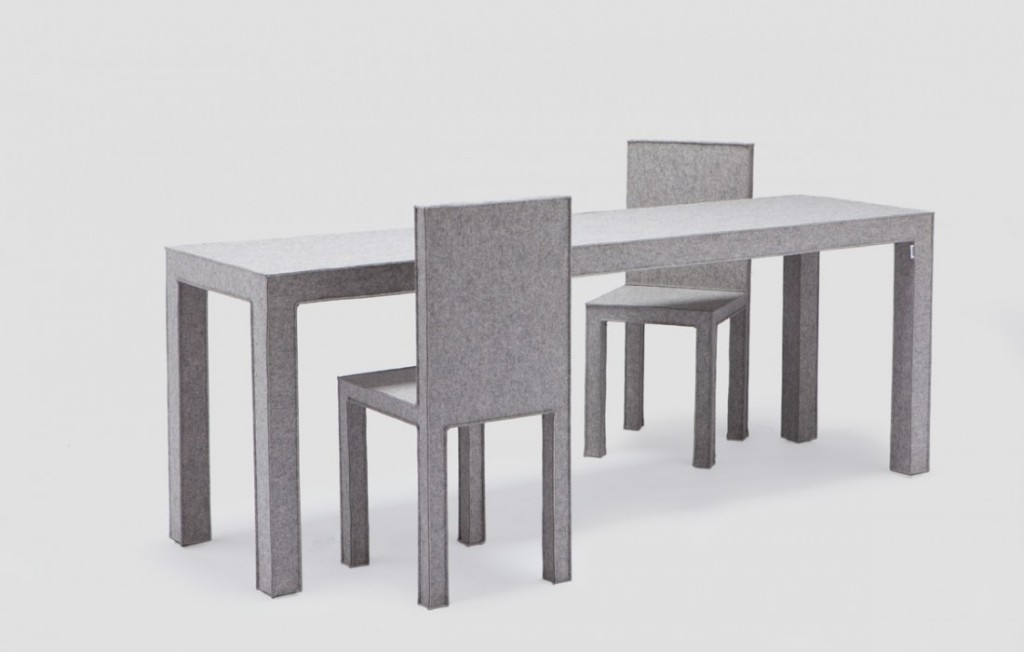 Разнообразная фетровая мебель establishedandsons