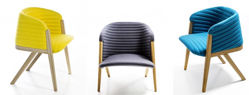 Разнообразная фетровая мебель urquiola