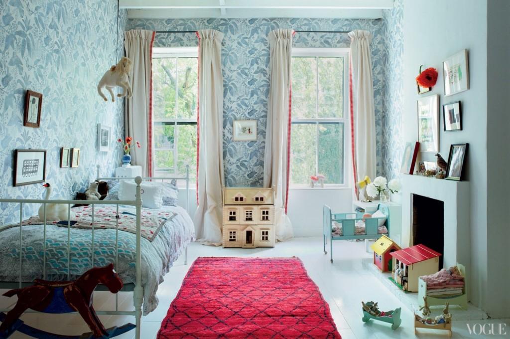 Стиль Парижа и Бруклина в интерьерах Halard-Halard blue kidsroom
