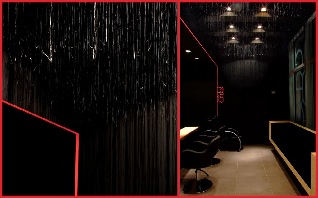Необычные дизайнерские приемы для оформления потолков hair-salon