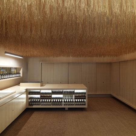 Необычные дизайнерские приемы для оформления потолков Aesop-store-by-March-Studio
