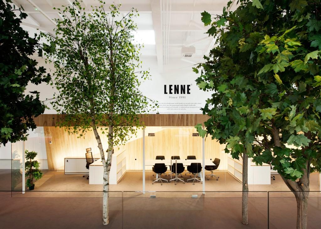 Деревья в общественных интерьерах Office-Lenne_Estonia_KAMP-Arhitektid